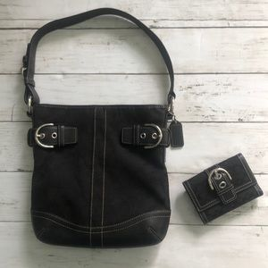 Coach shoulder bag and matching wallet